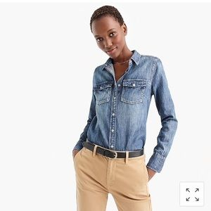 JCrew jeans denim shirt.  Size 4.